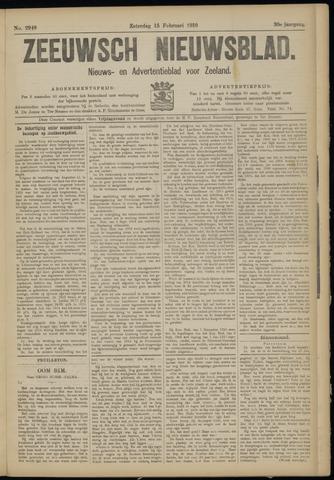 Ter Neuzensch Volksblad. Vrijzinnig nieuws- en advertentieblad voor Zeeuwsch- Vlaanderen / Zeeuwsch Nieuwsblad. Nieuws- en advertentieblad voor Zeeland 1919-02-15