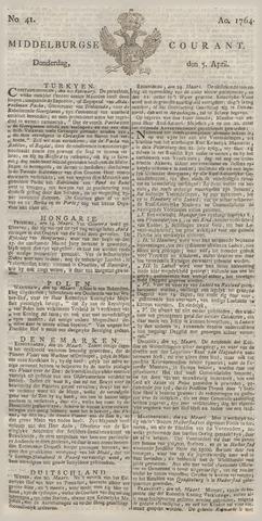 Middelburgsche Courant 1764-04-05