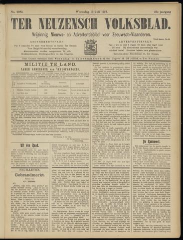 Ter Neuzensch Volksblad. Vrijzinnig nieuws- en advertentieblad voor Zeeuwsch- Vlaanderen / Zeeuwsch Nieuwsblad. Nieuws- en advertentieblad voor Zeeland 1912-07-10