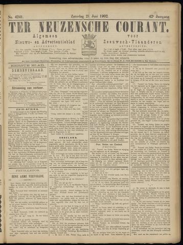 Ter Neuzensche Courant. Algemeen Nieuws- en Advertentieblad voor Zeeuwsch-Vlaanderen / Neuzensche Courant ... (idem) / (Algemeen) nieuws en advertentieblad voor Zeeuwsch-Vlaanderen 1902-06-21