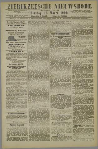 Zierikzeesche Nieuwsbode 1900-03-13