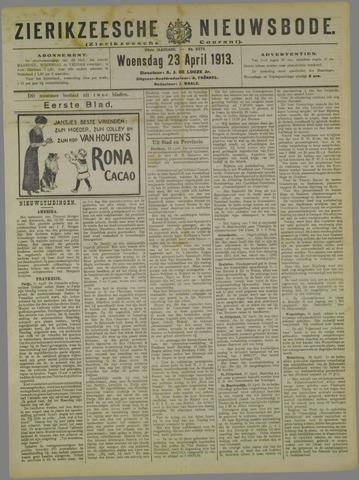 Zierikzeesche Nieuwsbode 1913-04-23