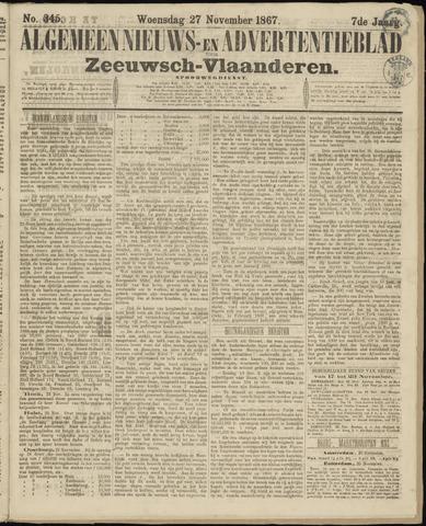 Ter Neuzensche Courant. Algemeen Nieuws- en Advertentieblad voor Zeeuwsch-Vlaanderen / Neuzensche Courant ... (idem) / (Algemeen) nieuws en advertentieblad voor Zeeuwsch-Vlaanderen 1867-11-27
