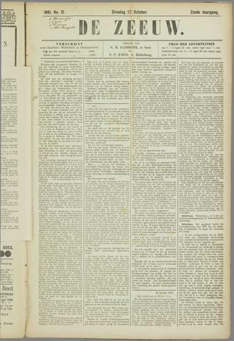 De Zeeuw. Christelijk-historisch nieuwsblad voor Zeeland 1891-10-27