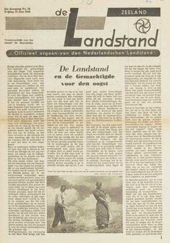De landstand in Zeeland, geïllustreerd weekblad. 1943-06-18