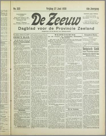 De Zeeuw. Christelijk-historisch nieuwsblad voor Zeeland 1930-06-27