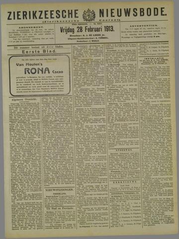 Zierikzeesche Nieuwsbode 1913-02-28