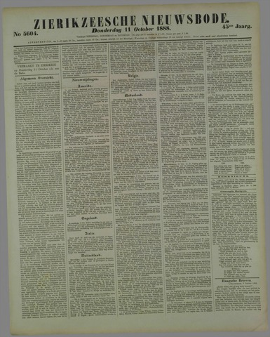 Zierikzeesche Nieuwsbode 1888-10-11