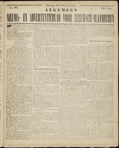 Ter Neuzensche Courant. Algemeen Nieuws- en Advertentieblad voor Zeeuwsch-Vlaanderen / Neuzensche Courant ... (idem) / (Algemeen) nieuws en advertentieblad voor Zeeuwsch-Vlaanderen 1873-02-15