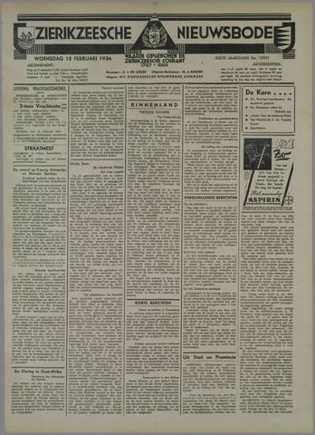 Zierikzeesche Nieuwsbode 1936-02-12