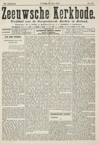 Zeeuwsche kerkbode, weekblad gewijd aan de belangen der gereformeerde kerken/ Zeeuwsch kerkblad 1918-07-26