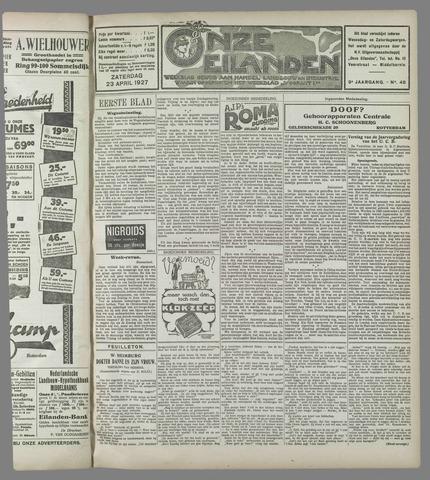 Onze Eilanden 1927-04-23