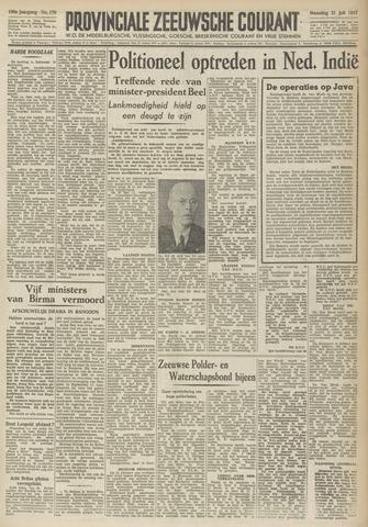 Provinciale Zeeuwse Courant 1947-07-21