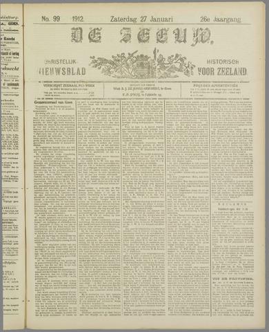 De Zeeuw. Christelijk-historisch nieuwsblad voor Zeeland 1912-01-27