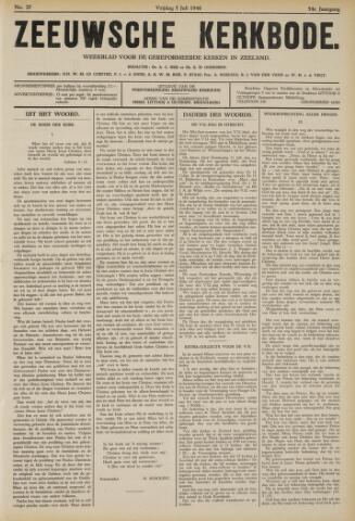 Zeeuwsche kerkbode, weekblad gewijd aan de belangen der gereformeerde kerken/ Zeeuwsch kerkblad 1940-07-05