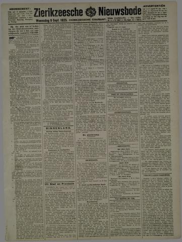 Zierikzeesche Nieuwsbode 1925-09-09