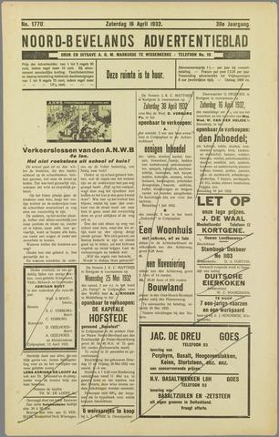 Noord-Bevelands Nieuws- en advertentieblad 1932-04-16