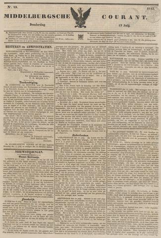 Middelburgsche Courant 1843-07-13