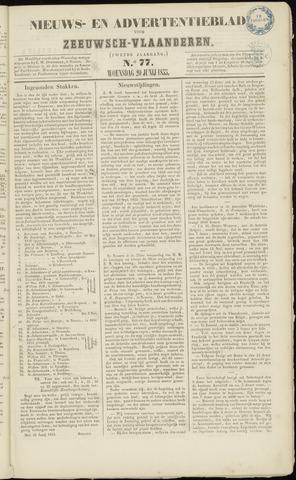 Ter Neuzensche Courant. Algemeen Nieuws- en Advertentieblad voor Zeeuwsch-Vlaanderen / Neuzensche Courant ... (idem) / (Algemeen) nieuws en advertentieblad voor Zeeuwsch-Vlaanderen 1855-06-20