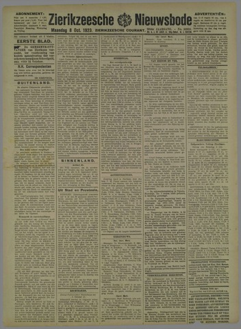 Zierikzeesche Nieuwsbode 1923-10-08