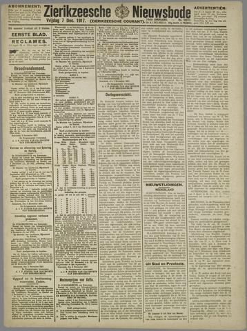 Zierikzeesche Nieuwsbode 1917-12-07