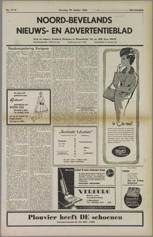 Noord-Bevelands Nieuws- en advertentieblad 1962-10-20