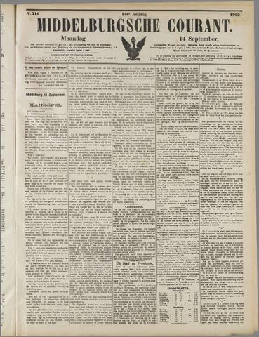 Middelburgsche Courant 1903-09-14