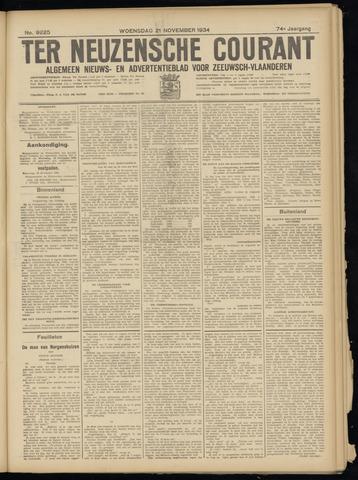 Ter Neuzensche Courant. Algemeen Nieuws- en Advertentieblad voor Zeeuwsch-Vlaanderen / Neuzensche Courant ... (idem) / (Algemeen) nieuws en advertentieblad voor Zeeuwsch-Vlaanderen 1934-11-21