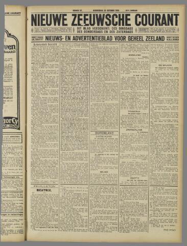 Nieuwe Zeeuwsche Courant 1925-10-29