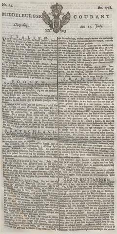 Middelburgsche Courant 1778-07-14