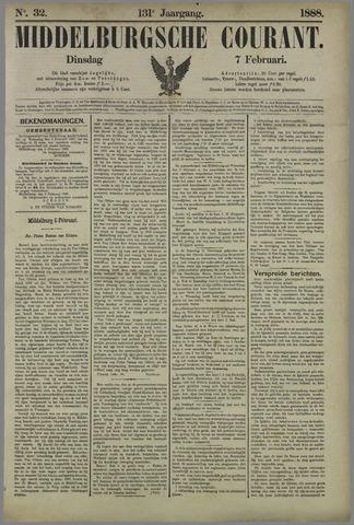 Middelburgsche Courant 1888-02-07