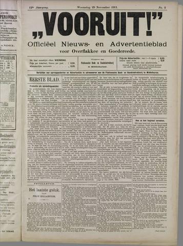 """""""Vooruit!""""Officieel Nieuws- en Advertentieblad voor Overflakkee en Goedereede 1911-11-29"""