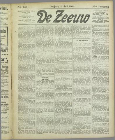 De Zeeuw. Christelijk-historisch nieuwsblad voor Zeeland 1919-07-11
