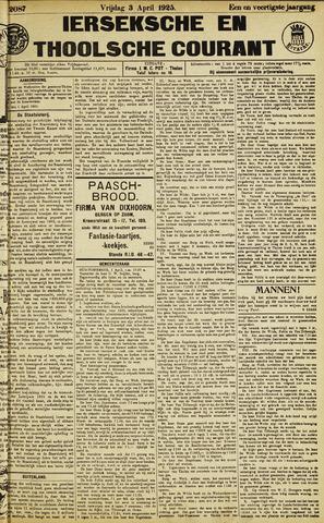 Ierseksche en Thoolsche Courant 1925-04-03