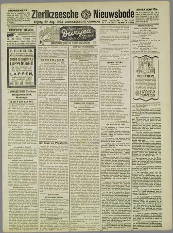 Zierikzeesche Nieuwsbode 1924-08-22