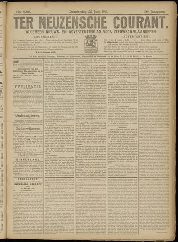 Ter Neuzensche Courant. Algemeen Nieuws- en Advertentieblad voor Zeeuwsch-Vlaanderen / Neuzensche Courant ... (idem) / (Algemeen) nieuws en advertentieblad voor Zeeuwsch-Vlaanderen 1916-06-22