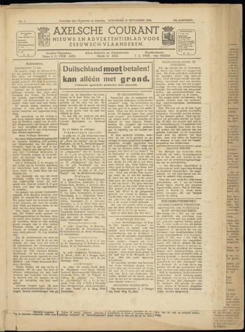 Axelsche Courant 1945-09-26