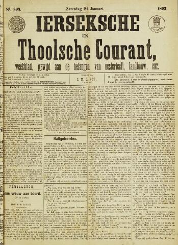 Ierseksche en Thoolsche Courant 1893-01-21