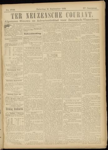 Ter Neuzensche Courant. Algemeen Nieuws- en Advertentieblad voor Zeeuwsch-Vlaanderen / Neuzensche Courant ... (idem) / (Algemeen) nieuws en advertentieblad voor Zeeuwsch-Vlaanderen 1918-09-21