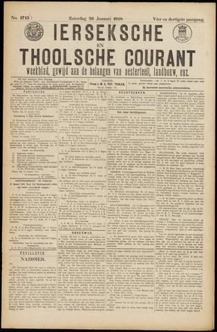 Ierseksche en Thoolsche Courant 1918-01-26
