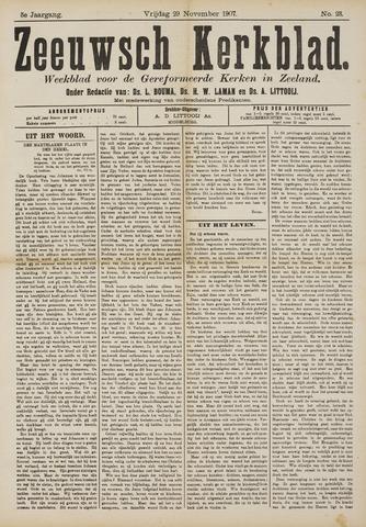 Zeeuwsche kerkbode, weekblad gewijd aan de belangen der gereformeerde kerken/ Zeeuwsch kerkblad 1907-11-29