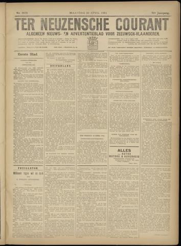 Ter Neuzensche Courant. Algemeen Nieuws- en Advertentieblad voor Zeeuwsch-Vlaanderen / Neuzensche Courant ... (idem) / (Algemeen) nieuws en advertentieblad voor Zeeuwsch-Vlaanderen 1931-04-20