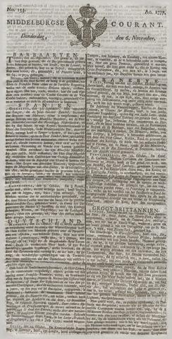 Middelburgsche Courant 1777-11-06