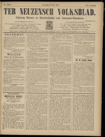 Ter Neuzensch Volksblad. Vrijzinnig nieuws- en advertentieblad voor Zeeuwsch- Vlaanderen / Zeeuwsch Nieuwsblad. Nieuws- en advertentieblad voor Zeeland 1914-05-23