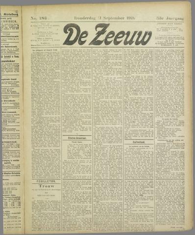 De Zeeuw. Christelijk-historisch nieuwsblad voor Zeeland 1919-09-11