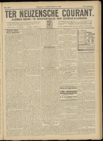 Ter Neuzensche Courant. Algemeen Nieuws- en Advertentieblad voor Zeeuwsch-Vlaanderen / Neuzensche Courant ... (idem) / (Algemeen) nieuws en advertentieblad voor Zeeuwsch-Vlaanderen 1930-09-19