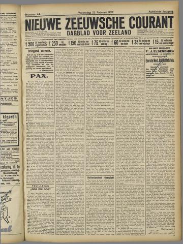 Nieuwe Zeeuwsche Courant 1922-02-22