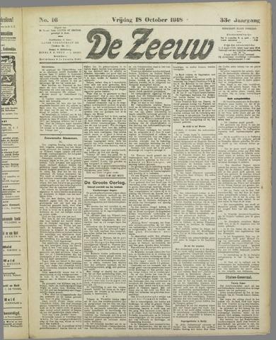 De Zeeuw. Christelijk-historisch nieuwsblad voor Zeeland 1918-10-18