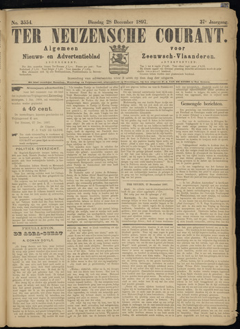 Ter Neuzensche Courant. Algemeen Nieuws- en Advertentieblad voor Zeeuwsch-Vlaanderen / Neuzensche Courant ... (idem) / (Algemeen) nieuws en advertentieblad voor Zeeuwsch-Vlaanderen 1897-12-28
