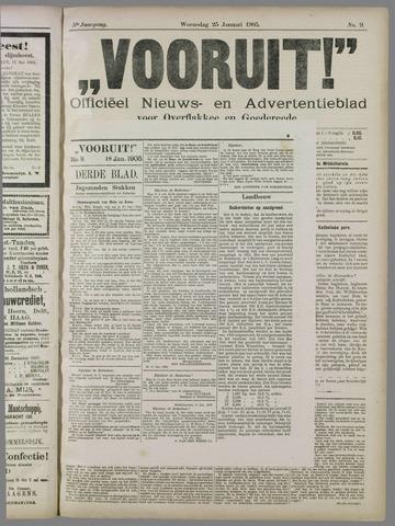 """""""Vooruit!""""Officieel Nieuws- en Advertentieblad voor Overflakkee en Goedereede 1905-01-25"""